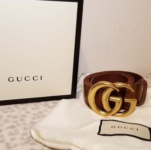 Gucci Brown Classic Leather Belt